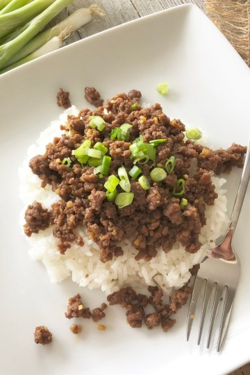 Fast & Easy Korean Beef with Rice