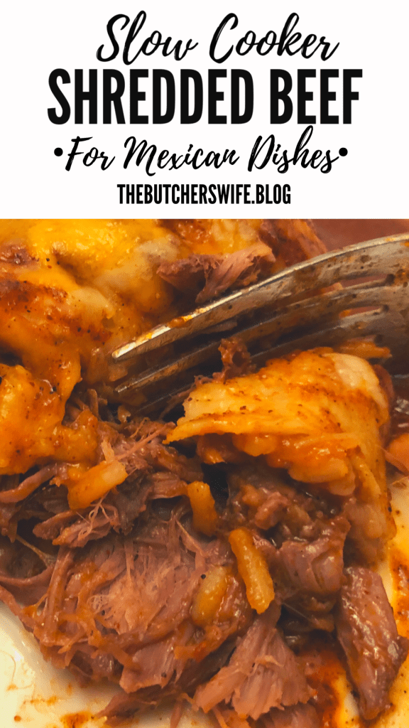 Slow Cooker Mexican Shredded Beef | The Butcher's Wife