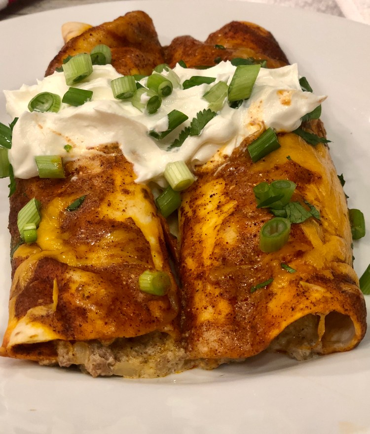 Fast and Easy Ground Beef Enchiladas | The Butcher's Wife