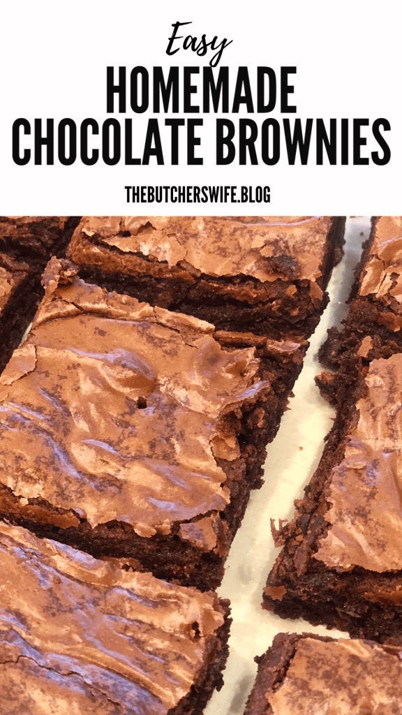 Easy Homemade Chocolate Brownies - PERFECT FOR THOSE CHOCOLATE CRAVINGS