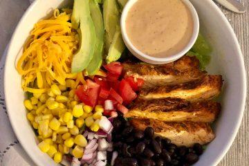 Tex-Mex BBQ Chicken Salad is Tex-Mex with a bit of BBQ flair