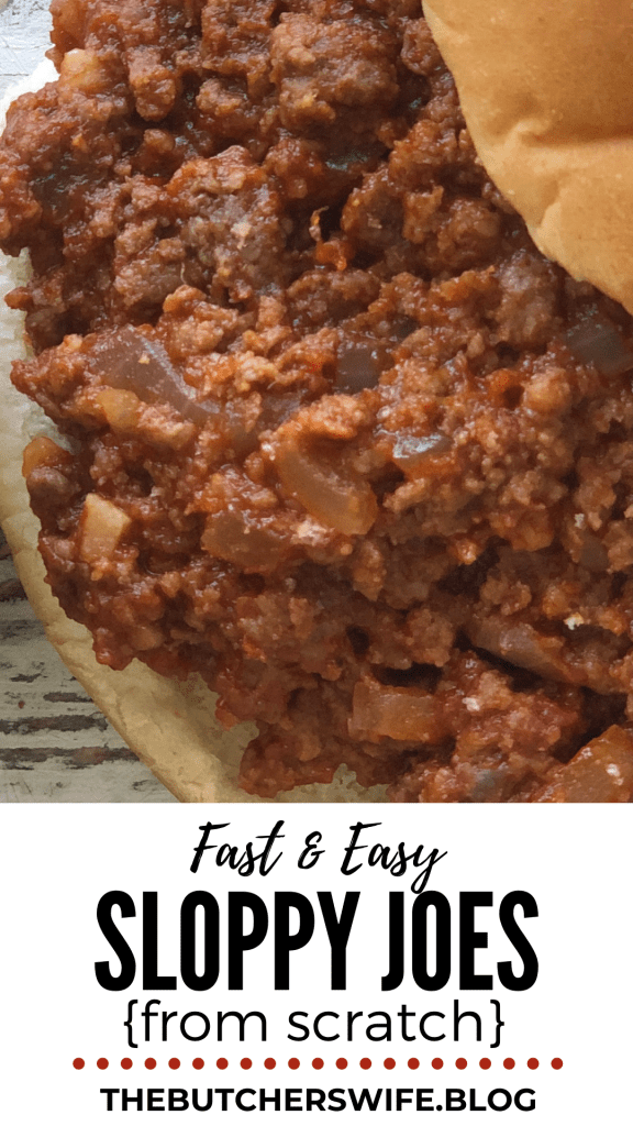 Fast and Easy Sloppy Joes from Scratch | The Butcher's Wife