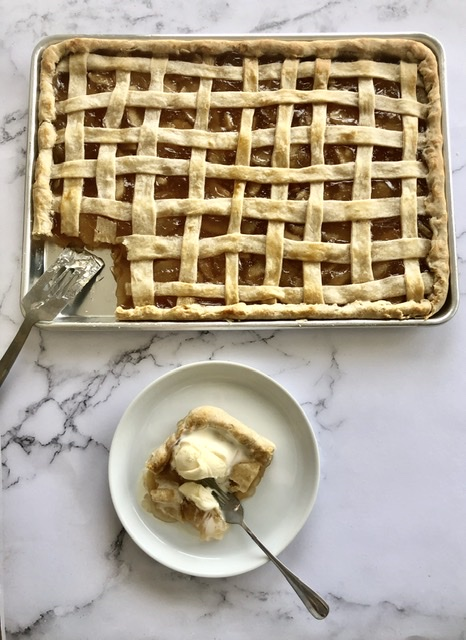Love apple pie? This Sheet Pan Apple Pie is for you!  It feeds a crowd, is easy to make and everyone will love it!