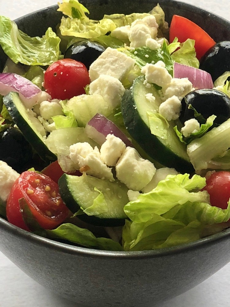 Easy Greek Salad with Greek Vinaigrette Dressing | The Butcher's Wife