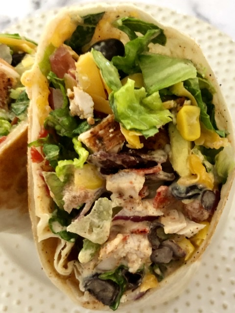 Southwest Chicken Sandwich Wraps stuffed with Southwest Flavors