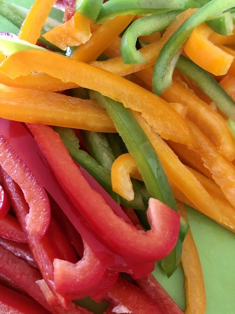 bell peppers for easy sheet pan chicken fajitas