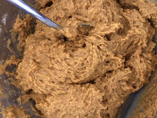 mixed pumpkin chocolate chip cookie dough