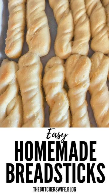 Easy Homemade Breadsticks | The Butcher's Wife