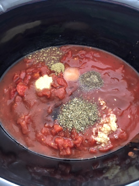 tomatoes, and seasonings added the slow cooker for easy slow cooker spaghetti sauce