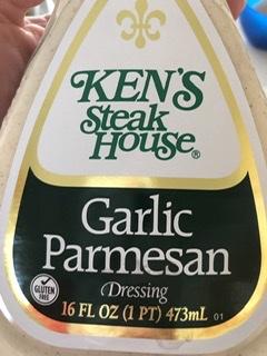 bottle of Ken's Garlic Parmesan Dressing