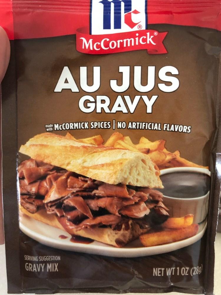 Au Jus Gravy sauce packet