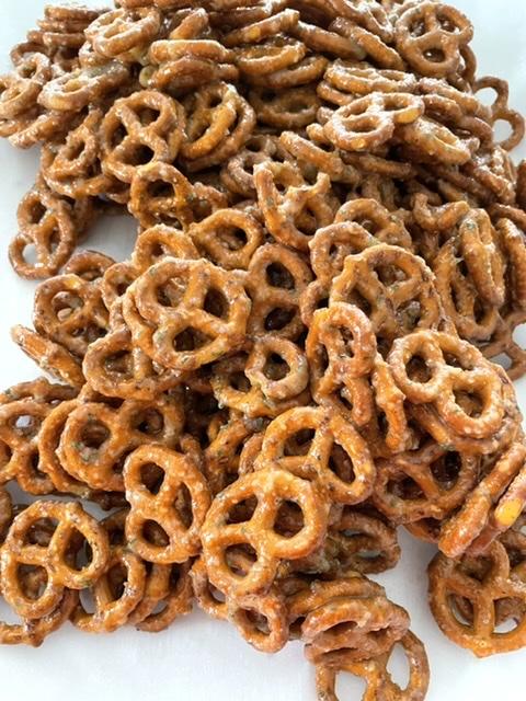 pile of butter ranch pretzels