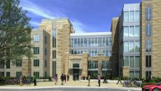 The new residence hall will have suite-style rooms in pod formations.