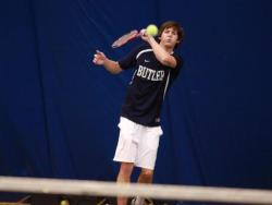 Junior Brandon Woods came from Australia to play tennis for Butler. Photo courtesy of butlersports.com
