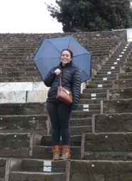 Gabi Randall in Pompeii