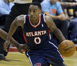 Jeff Teague, starting point guard for the Atlanta Hawks.