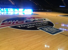 Out on the floor after by myself after Butler's loss against Xavier Thursday.