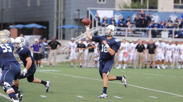 (Collegian File Photo) QB Matt Shiltz threw for 10 touchdowns last season before breaking his wrist.