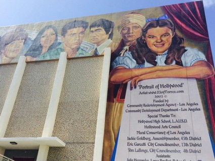 Mural on the wall of Hollywood High School.