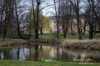 reflection of castle in the river