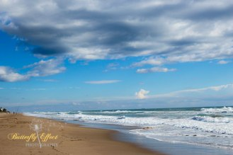 clouds on the bech