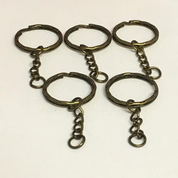 25mm x 53mm split ring keychain