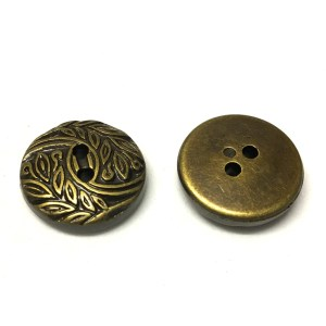 Metallic resin buttons