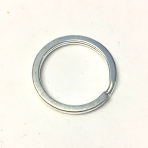 Silver plated metal split ring keyrings