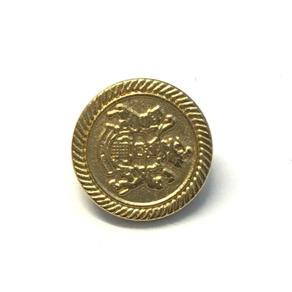 15mm gold metal coat of arms buttons, 10 pack