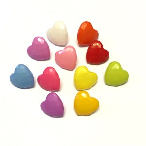small heart shaped buttons