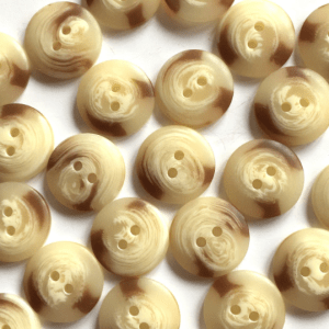 cream marbled buttons