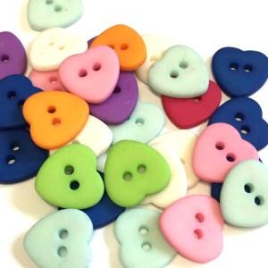 heart shape buttons