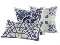 blue and white pillows  The Buzz Blog || Diane James Home