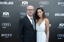 Paul Haggis and guest arrive at the Artists for Peace and Justice Festival Gala co-presented by Audi Canada at Casa Loma during the Toronto International Film Festival.