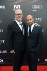 Paul Haggis and David Belle arrive at the Artists for Peace and Justice Festival Gala co-presented by Audi Canada at Casa Loma during the Toronto International Film Festival.