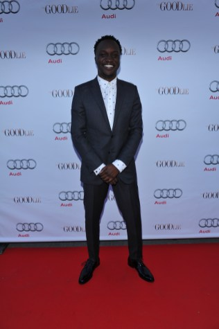 Arnold Oceng arrives at Nota Bene for the film party presented by Audi after the special presentation screening of The Good Lie during the Toronto International Film Festival.