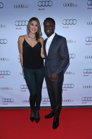Arnold Oceng and Molly Smith arrive at Nota Bene for the film party presented by Audi after the special presentation screening of The Good Lie during the Toronto International Film Festival.