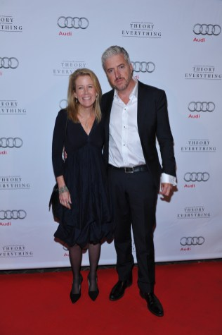 Lisa Bruce and Anthony McCarten arrive at Patria for the film party presented by Audi after the special presentation screening of The Theory of Everything during the Toronto International Film Festival.