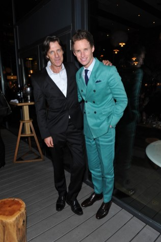 James Marsh and Eddie Redmayne at Patria for the film party presented by Audi after the special presentation screening of The Theory of Everything during the Toronto International Film Festival.