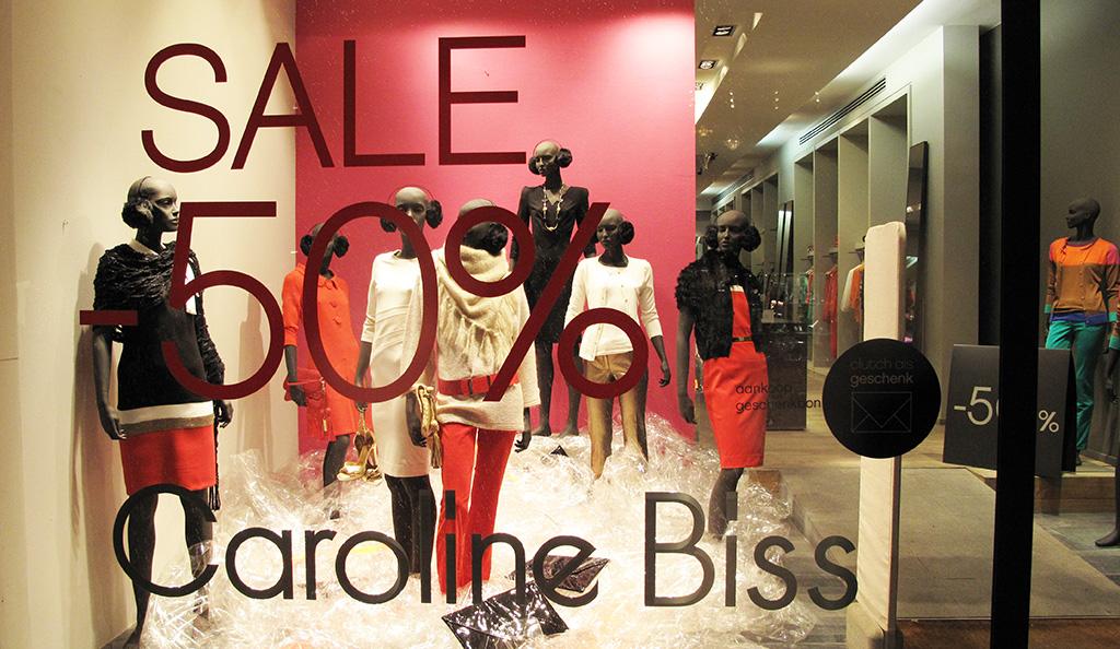 Caroline Biss Plastic SALE Window Display  Best Window Displays