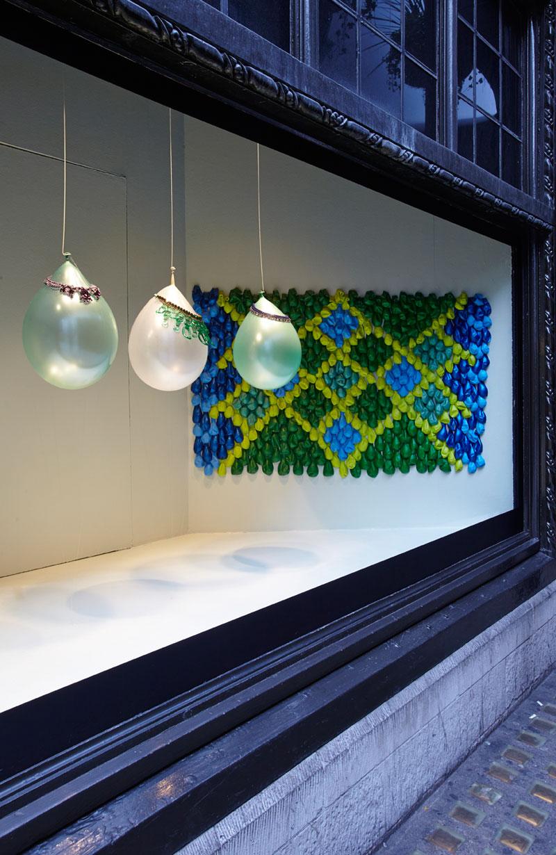 Liberty Carpets Window Display at Liberty London by WE MAKE CARPETS  Best Window Displays