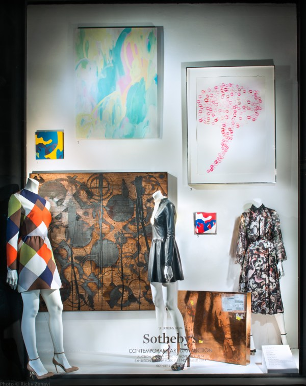 Bergdorf Goodman Sotheby Contemporary Art Window Displays