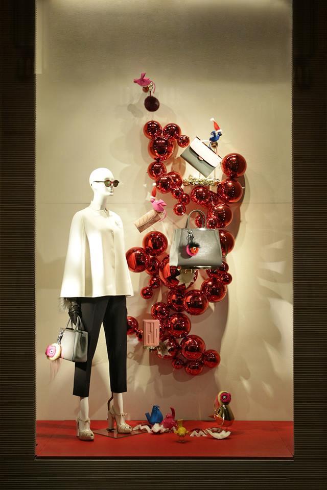 FENDI QuTweet Holiday Window Displays 2014  Best Window Displays