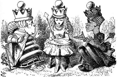 Manners and Lessons — Illustration to the ninth chapter of Through the Looking Glass by John Tenniel.
