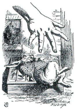 'Alice's Giant Hand' by John Tenniel