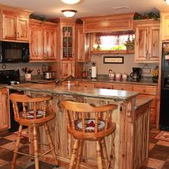 Rustic Hickory Kitchen Cabinets Islands Designs The Plus
