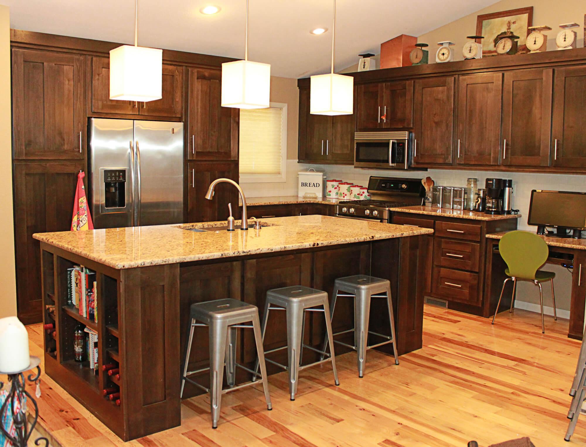 alder cabinets kitchen floor tile the plus clear