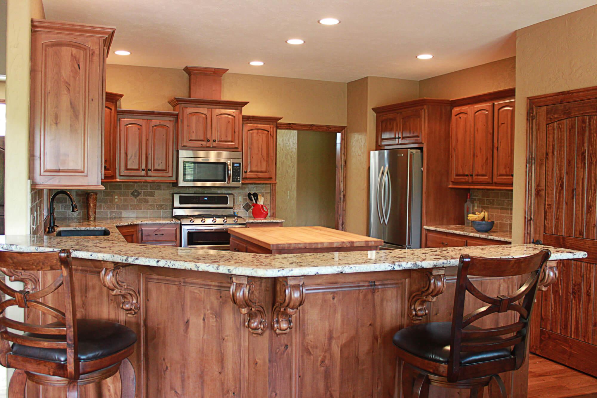 alder kitchen cabinets brizo venuto faucet the plus knotty