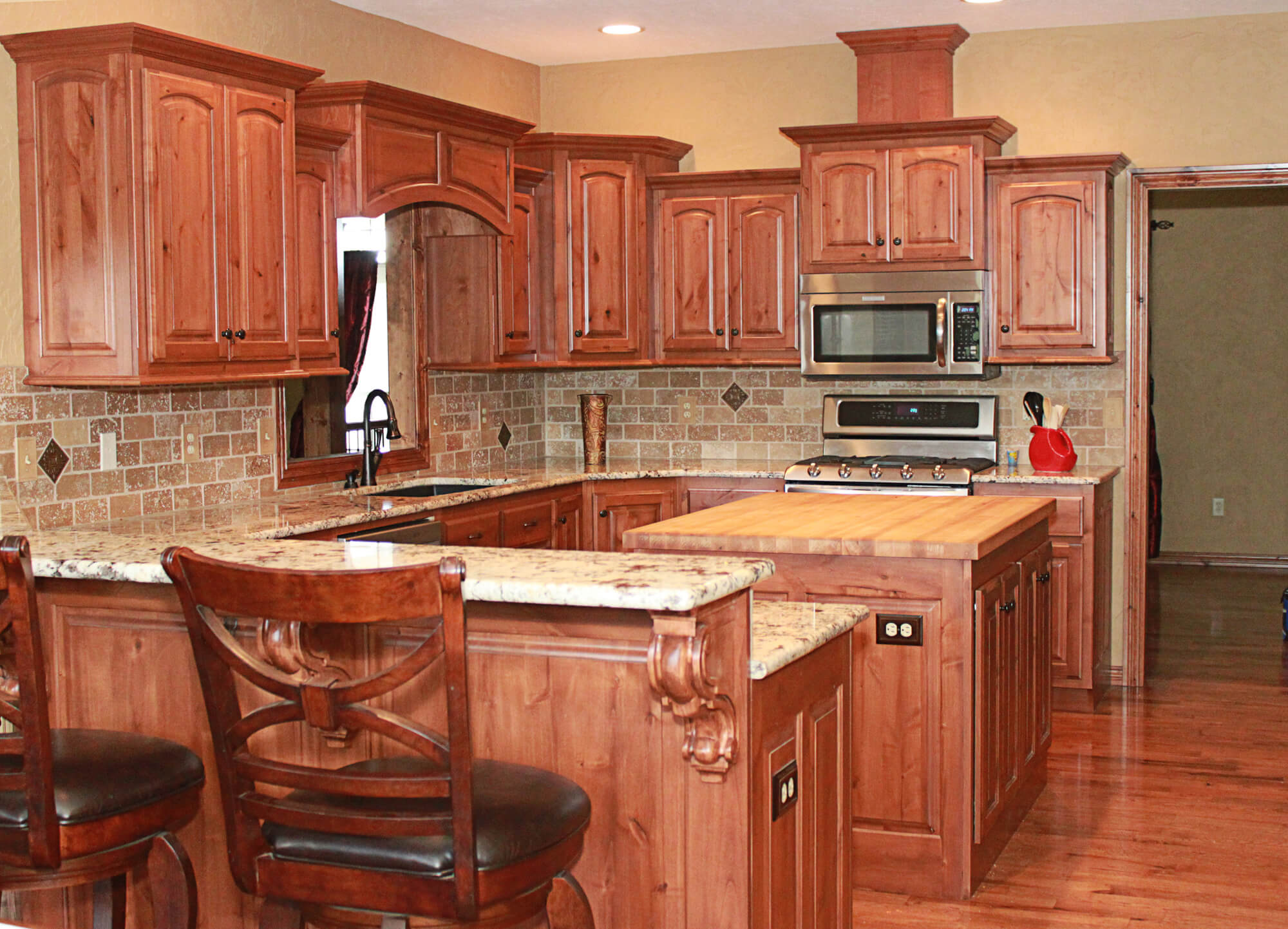 alder cabinets kitchen pics of islands the plus knotty