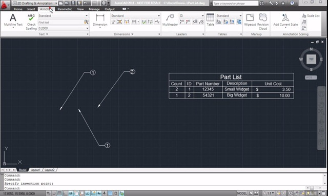 Dynamically Combine AutoCAD Data Extraction Tables with